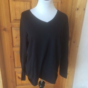 SONOMA BLACK L LONG SLEEVE TOP